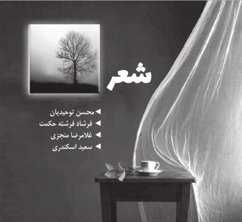 شعر: محسن توحیدیان، فرشاد فرشته حکمت، غلامرضا منجزی، سعید اسکندری